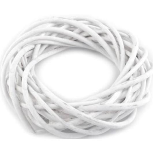 Vessző koszorú 20cm fehér