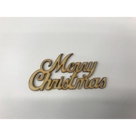 Fehér Merry Christmas fafelirat több méretben