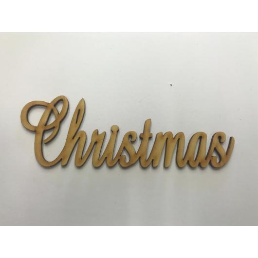 Díszes Christmas fafelirat több méretben