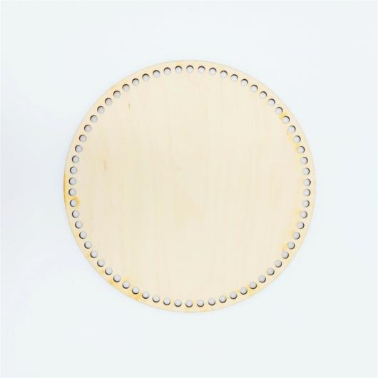 Horgolható kör alakú fa alap-20cm