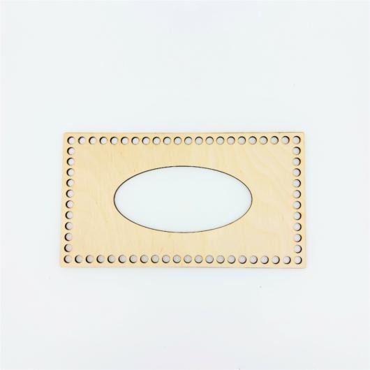 Horgolható alap kozmetikai kendő dobozhoz-27x15cm