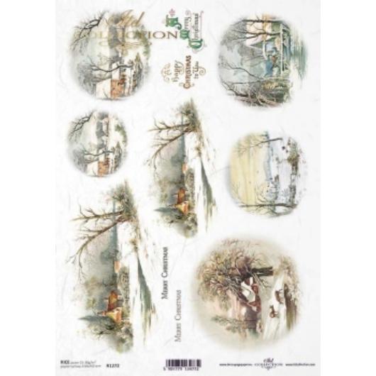 Télies hangulatú rizspapír - R1272
