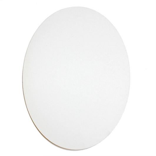 Ovális fehér feszített vászon - 25x20cm